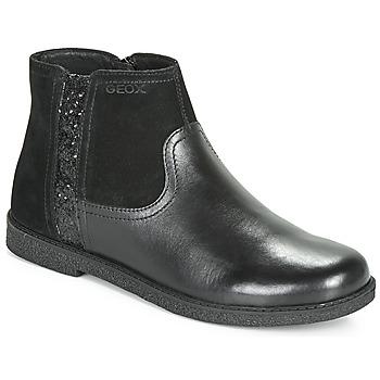 鞋子 女孩 短筒靴 Geox 健乐士 J SHAWNTEL 黑色
