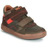 鞋子 男孩 高幫鞋 Geox 健樂士 J ARZACH BOY 棕色 / 橙色