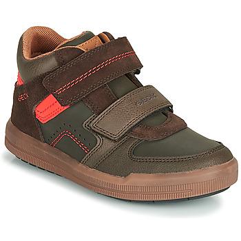 鞋子 男孩 高帮鞋 Geox 健乐士 J ARZACH BOY 棕色 / 橙色