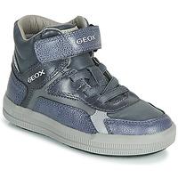 鞋子 男孩 高幫鞋 Geox 健樂士 J ARZACH BOY 藍色 / 灰色