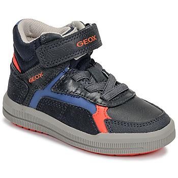 鞋子 男孩 高帮鞋 Geox 健乐士 J ARZACH BOY 蓝色 / 橙色