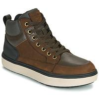 鞋子 男孩 高幫鞋 Geox 健樂士 J MATTIAS B BOY ABX 咖啡色 / 黑色