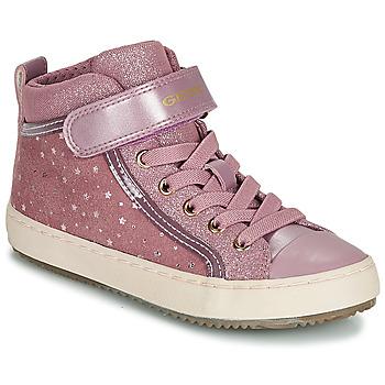 鞋子 女孩 高幫鞋 Geox 健樂士 J KALISPERA GIRL 玫瑰色