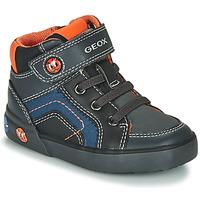 鞋子 男孩 高帮鞋 Geox 健乐士 B KILWI BOY 灰色 / 黑色