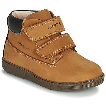 鞋子 男孩 高帮鞋 Geox 健乐士 B HYNDE BOY WPF 棕色