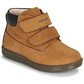 鞋子 男孩 高幫鞋 Geox 健樂士 B HYNDE BOY WPF 棕色