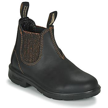 鞋子 女孩 短筒靴 Blundstone KIDS-BLUNNIES-1992 黑色 / 金色