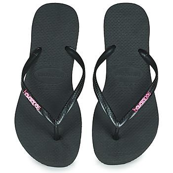 鞋子 女士 人字拖 Havaianas 哈瓦那 SLIM LOGO METALLIC 黑色