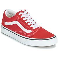 鞋子 球鞋基本款 Vans 范斯 OLD SKOOL 紅色