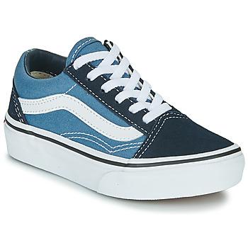 鞋子 儿童 球鞋基本款 Vans 范斯 UY OLD SKOOL 海蓝色 / 白色