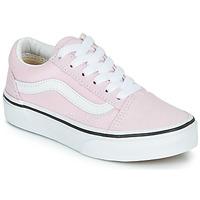 鞋子 女孩 球鞋基本款 Vans 范斯 UY OLD SKOOL 玫瑰色