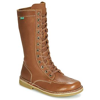 鞋子 女士 都市靴 Kickers MEETKIKNEW 駝色