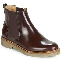 鞋子 女士 短筒靴 Kickers OXFORDCHIC 波尔多红