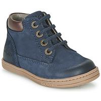 鞋子 男孩 短筒靴 Kickers TACKLAND 海藍色