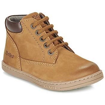 鞋子 男孩 短筒靴 Kickers TACKLAND 駝色