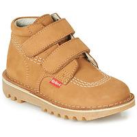 鞋子 男孩 短筒靴 Kickers NEOVELCRO 驼色