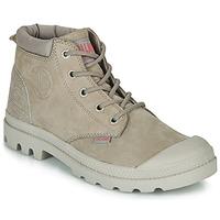 鞋子 女士 短筒靴 Palladium 帕拉丁 PAMPA LO CUFF LEA 灰色