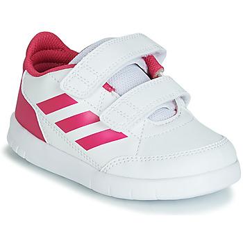 鞋子 女孩 球鞋基本款 adidas Performance 阿迪達斯運動訓練 ALTASPORT CF I 白色 / 玫瑰色