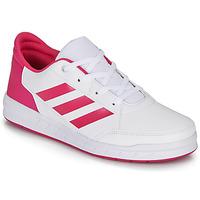 鞋子 女孩 球鞋基本款 adidas Performance 阿迪达斯运动训练 ALTASPORT K 白色 / 玫瑰色
