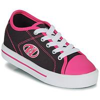 鞋子 女孩 轮滑鞋 Heelys CLASSIC X2 黑色 / 玫瑰色