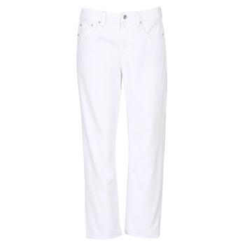 衣服 女士 女士Boyfriend牛仔褲 G-Star Raw 3301 MID BOYFRIEND 7/8 白色