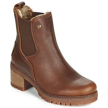 鞋子 女士 短筒靴 Panama Jack 巴拿马 杰克 PIA 棕色