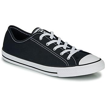 鞋子 女士 球鞋基本款 Converse 匡威 CHUCK TAYLOR ALL STAR DAINTY GS  CANVAS OX 黑色