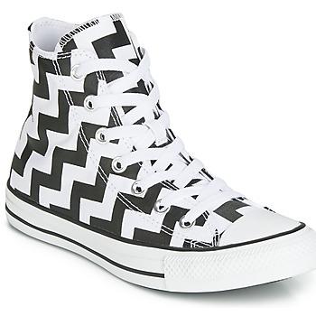 鞋子 女士 高幫鞋 Converse 匡威 CHUCK TAYLOR ALL STAR GLAM DUNK CANVAS HI 黑色 / 白色