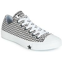 鞋子 女士 球鞋基本款 Converse 匡威 CHUCK TAYLOR ALL STAR VLTG LEATHER OX 白色 / 黑色