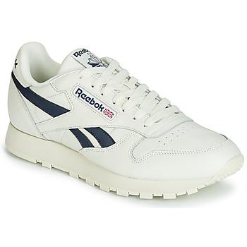 鞋子 球鞋基本款 Reebok Classic CL LEATHER MU 白色 / 黑色