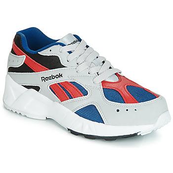 鞋子 男孩 球鞋基本款 Reebok Classic AZTREK J 灰色 / 红色