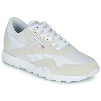 鞋子 兒童 球鞋基本款 Reebok Classic CL NYLON J 白色 / 米色