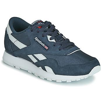 鞋子 儿童 球鞋基本款 Reebok Classic CL NYLON J 海蓝色 / 白色
