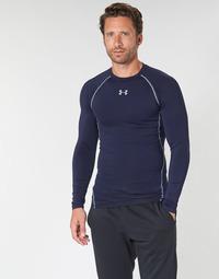 衣服 男士 长袖T恤 Under Armour 安德玛 HEATGEAR ARMOUR LS COMPRESSION 海蓝色
