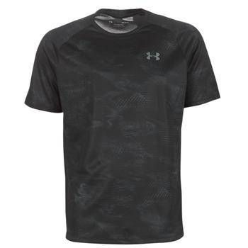 衣服 男士 短袖體恤 Under Armour 安德瑪 TECH 2.0 SS PRINTED 黑色