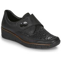 鞋子 女士 德比 Rieker 瑞克尔 537C0-02 黑色