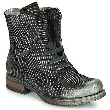 鞋子 女士 短筒靴 Papucei MAURA BLACK SILVER 黑色