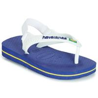 鞋子 儿童 凉鞋 Havaianas 哈瓦那 BABY BRASIL LOGO 海蓝色