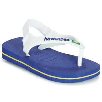 鞋子 男孩 人字拖 Havaianas 哈瓦那 BABY BRASIL LOGO 海藍色