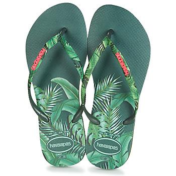 鞋子 女士 人字拖 Havaianas 哈瓦那 SLIM SENSATION 绿色