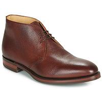 鞋子 男士 短筒靴 Barker OAKNEY 波尔多红