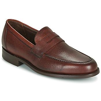 鞋子 男士 皮便鞋 Barker JEVINGTON 波尔多红