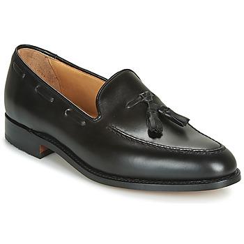 鞋子 男士 皮便鞋 Barker TASSEL 黑色