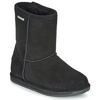 鞋子 女孩 短筒靴 EMU BRUMBY LO WATERPROOF 黑色