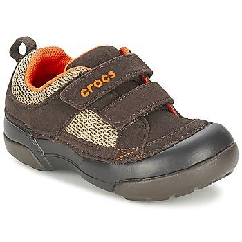 鞋子 男孩 球鞋基本款 crocs 卡骆驰 DAWSON HOOK & LOOP 棕色