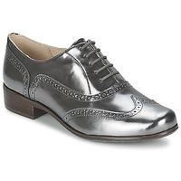 鞋子 女士 系带短筒靴 Clarks 其乐 HAMBLE OAK 银色