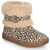 鞋子 女孩 短筒靴 Citrouille et Compagnie LILIFA 駝色 / Leopard