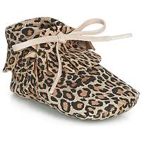 鞋子 女孩 拖鞋 Citrouille et Compagnie LILIFI 驼色 / Leopard