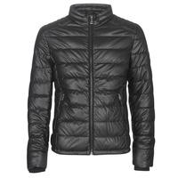 衣服 男士 皮夹克/ 人造皮革夹克 Guess STRETCH PU QUILTED 黑色