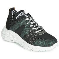 鞋子 女士 球鞋基本款 Meline  黑色 / 綠色